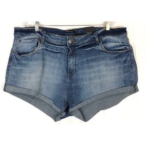 STS Blue double roll high rise denim shorts 9606